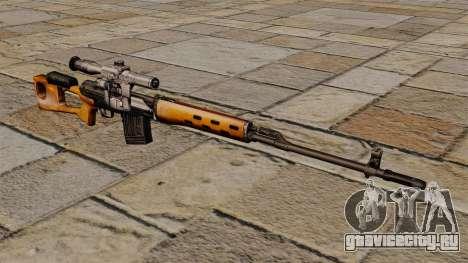 Снайперская винтовка Драгунова S.T.A.L.K.E.R. для GTA 4
