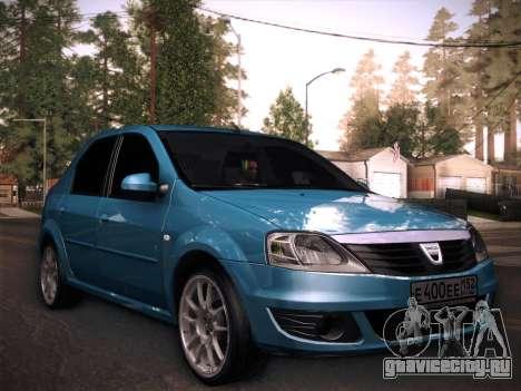 Dacia Logan GrayEdit для GTA San Andreas вид сзади слева