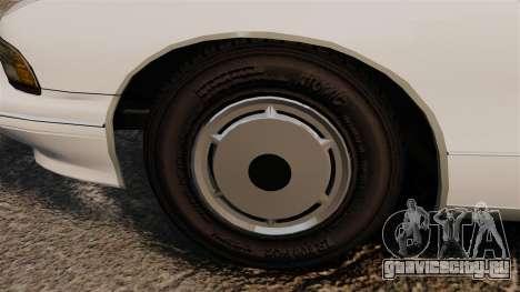 Chevrolet Caprice Police 1991 v2.0 N.o.o.s.e для GTA 4 вид сзади