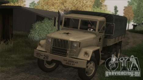 AM General M35A2 1950 для GTA San Andreas вид сзади слева