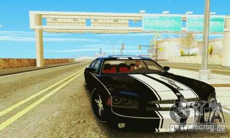 Dodge Charger DUB для GTA San Andreas вид сзади слева