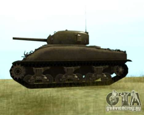 M4 Sherman для GTA San Andreas вид сзади слева