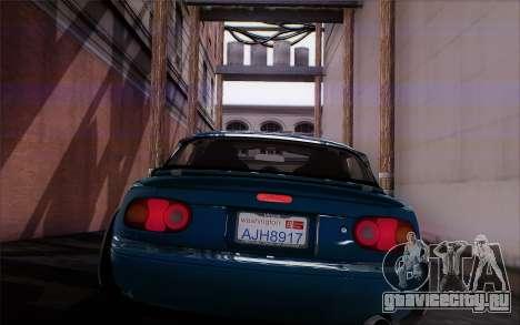 Mazda Miata для GTA San Andreas вид сзади