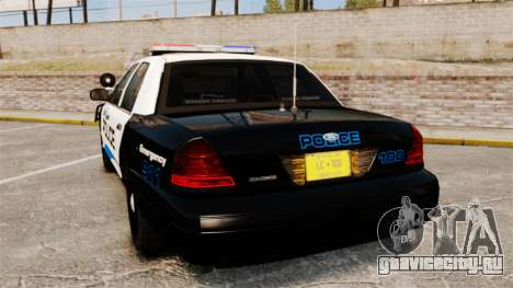 Ford Crown Victoria Police Interceptor [ELS] для GTA 4 вид сзади слева