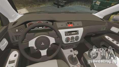 Mitsubishi Lancer Evolution IX 2006 tuning 2f2f для GTA 4 вид сбоку