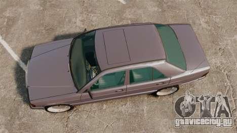 Mercedes-Benz E190 W201 для GTA 4 вид справа