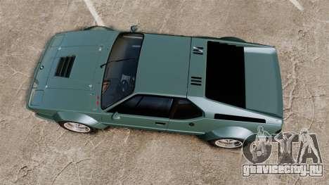 BMW M1 [EPM] для GTA 4 вид справа