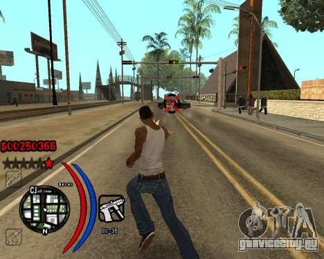 C-HUD Carbon для GTA San Andreas второй скриншот