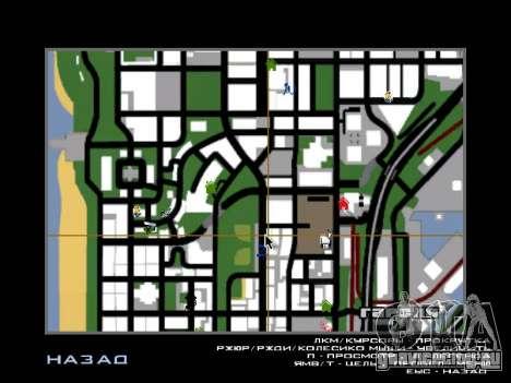 Новые Худ и иконки на карте для GTA San Andreas второй скриншот