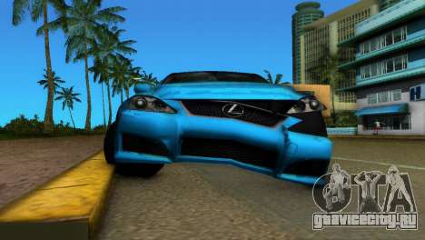 Lexus IS-F для GTA Vice City вид изнутри