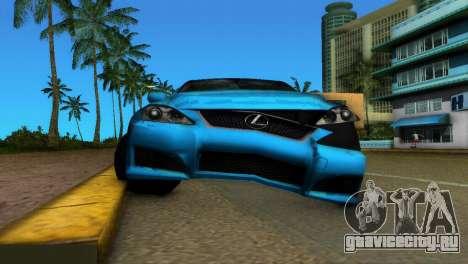 Lexus IS-F для GTA Vice City вид изнутри