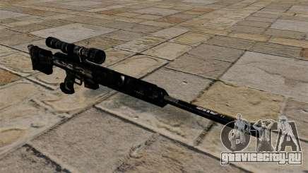 Снайперская винтовка в тёмно-синем камуфляже для GTA 4