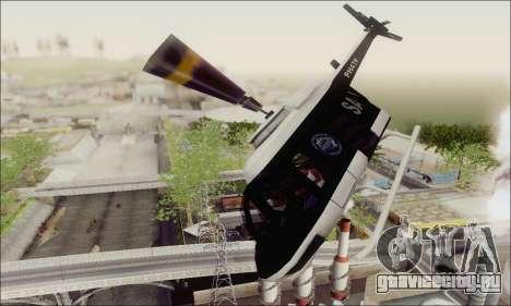 Police Maverick для GTA San Andreas вид изнутри