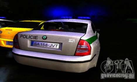 Skoda Superb POLICIE для GTA San Andreas вид справа