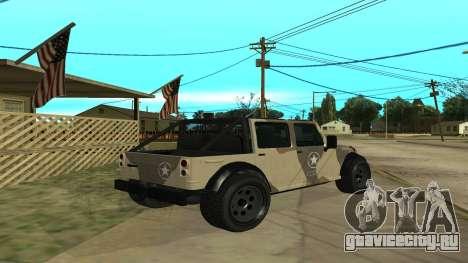 Crusader GTA 5 для GTA San Andreas вид справа
