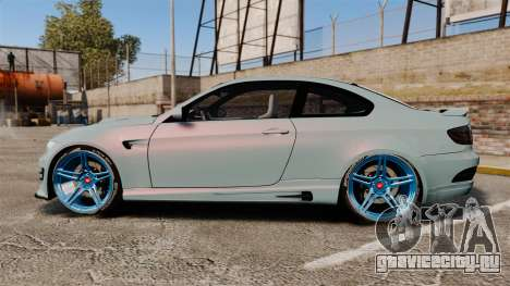 BMW M3 GTS Widebody для GTA 4 вид слева