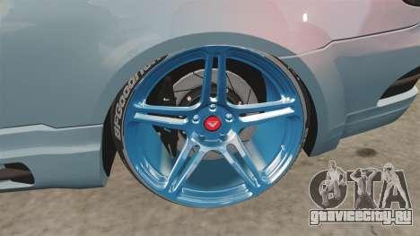 BMW M3 GTS Widebody для GTA 4 вид сзади