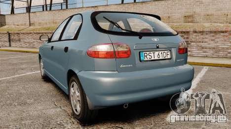 Daewoo Lanos 1997 PL для GTA 4 вид сзади слева