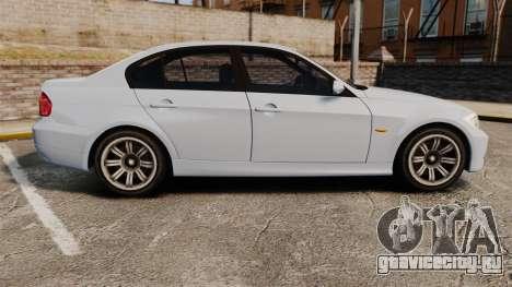 BMW 330i Unmarked Police [ELS] для GTA 4 вид слева