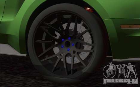 Ford Mustang GT 2013 для GTA San Andreas вид сзади слева