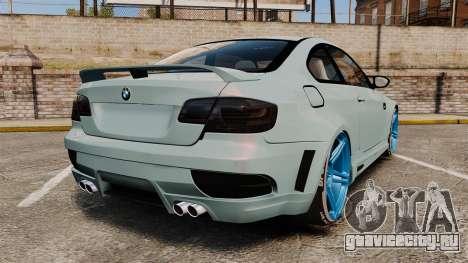 BMW M3 GTS Widebody для GTA 4 вид сзади слева