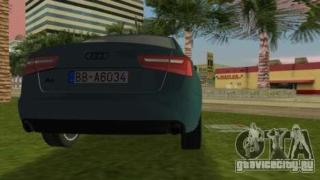 Audi A6 2012 для GTA Vice City вид сзади слева