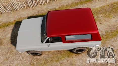 Chevrolet K5 Blazer для GTA 4 вид справа