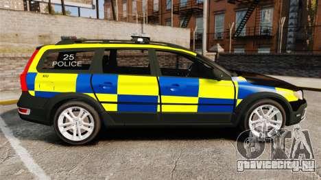 Volvo XC70 Police [ELS] для GTA 4 вид слева