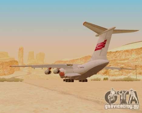 Ил-76ТД ИлАвиа для GTA San Andreas вид сзади
