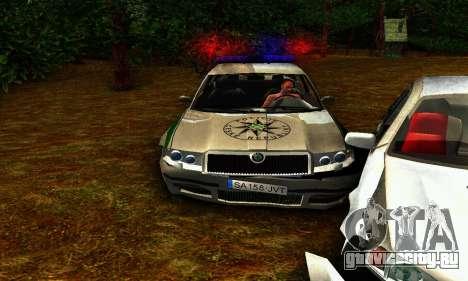 Skoda Superb POLICIE для GTA San Andreas вид изнутри