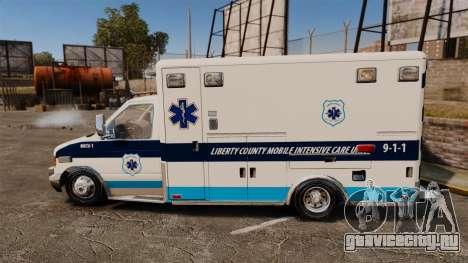 Ford E-350 Liberty Ambulance [ELS] для GTA 4 вид слева