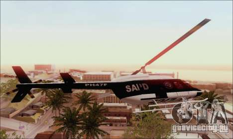 Police Maverick для GTA San Andreas вид слева
