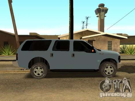 Ford Excursion для GTA San Andreas вид сзади слева