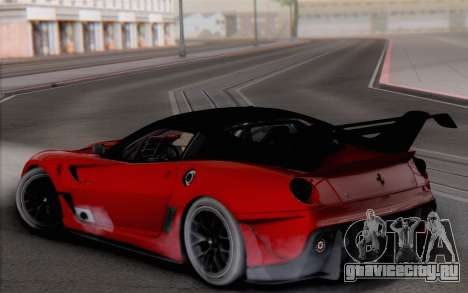 Ferrari 599XX Evolution для GTA San Andreas вид слева