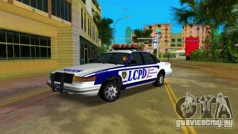 GTA IV Police Cruiser для GTA Vice City вид сзади слева