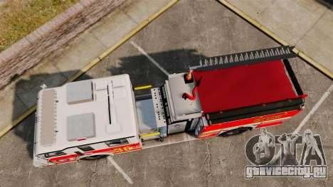 Firetruck LCFR [ELS] для GTA 4 вид справа