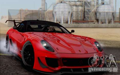 Ferrari 599XX Evolution для GTA San Andreas вид изнутри