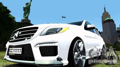 Mercedes-Benz ML63 AMG для GTA 4 вид сзади слева