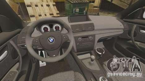 BMW 1M 2014 для GTA 4 вид изнутри