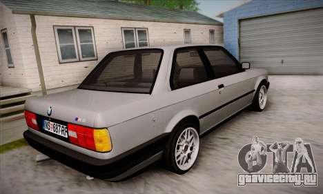 BMW M3 E30 для GTA San Andreas вид сверху