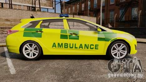 Hyundai i40 Tourer [ELS] London Ambulance для GTA 4 вид слева