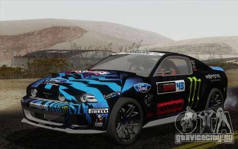 Ford Mustang GT 2013 для GTA San Andreas вид сзади