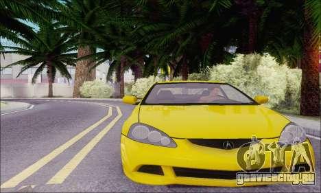 Acura RSX для GTA San Andreas вид сзади слева