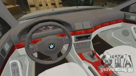 BMW 525i (E39) для GTA 4 вид изнутри