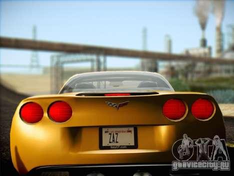 Chevrolet Corvette Z06 2006 v2 для GTA San Andreas вид слева