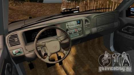 Chevrolet Suburban 1999 Police [ELS] для GTA 4 вид сзади