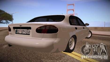 Daewoo Lanos для GTA San Andreas вид сзади слева