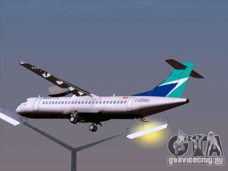 ATR 72-500 WestJet Airlines для GTA San Andreas салон