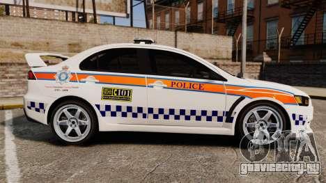 Mitsubishi Lancer Evo X Humberside Police [ELS] для GTA 4 вид слева