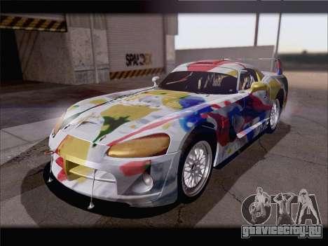 Dodge Viper Competition Coupe для GTA San Andreas вид снизу